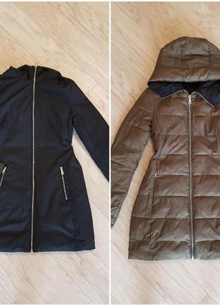 Куртка демисезонная massimo dutti двусторонняя, xs, 34