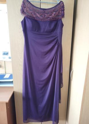 Шикарное праздничное платье в пол  сша usa