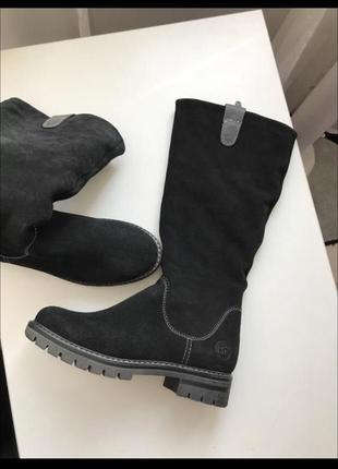Сапоги зимние замшевые, сапоги кожаные зимние, шкіряне зимнє взуття,