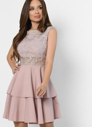Коктейльное платье фасона бэби-долл