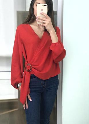 Шикарная блуза на запах, новая primark