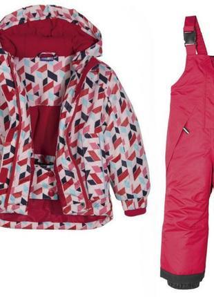 Лыжный термо костюм для девочки. (куртка +полу комбинезон). германия