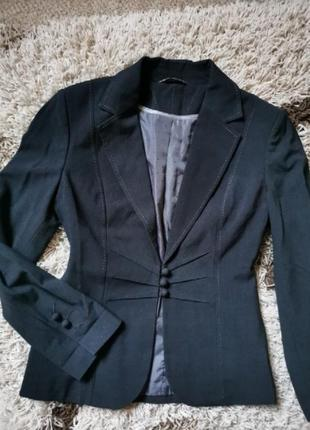 Пиджак жакет блейзер чёрный marks&spencer