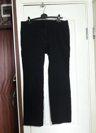 Р 16 / 50-52 стильные джинсы штаны брюки черные деним зауженные слим хлопок стрейчевые m&s
