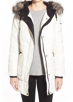 Bernardo оригинал белая кремовая зимняя теплая парка куртка