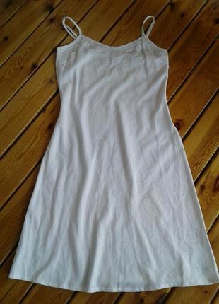 Льняной сарафан/платье в бельевом стиле biaggini