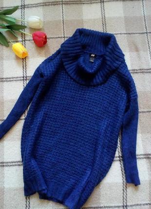 Теплое платье вязаное с шерстью и мохером