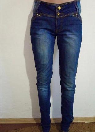 Джинси скінні з широким поясом(джинсы скинни с широким поясом)