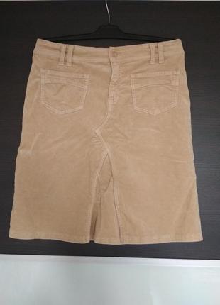 Теплая велюровая юбка бежевая united colors of benetton