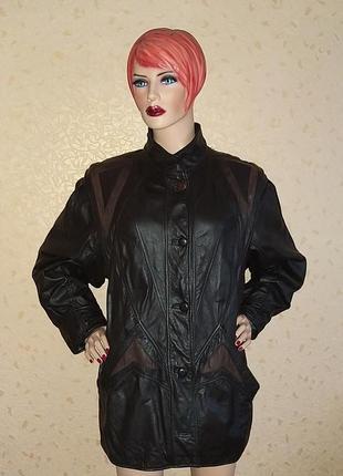 Шикарная кожаная курточка от бренда canda