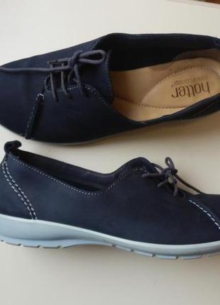 Кожаные туфли hotter 6,5р 26,5cм