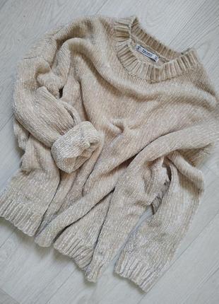 Очень классный крутой плюшевый свитер кофта теплый