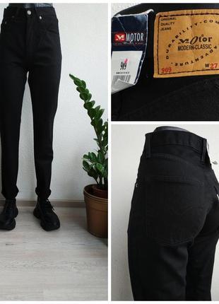 Джинсы мом motor comfort jeans с высокой посадкой бойфренды черные