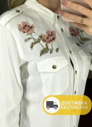 Сорочка/рубашка з вишивкою tally weijl