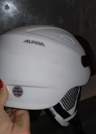 Шлем горнолижний alpina original grap visor hm matt a9093-10 54-57