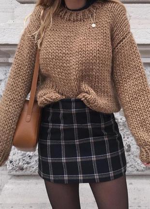 Шикарный  базовый объёмный свитер оверсайз🌫