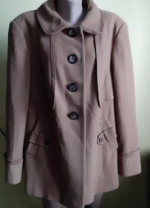 Пальто тренч кашемир  шерсть куртка на 56-58р