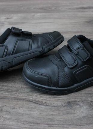 Кожаные кроссовки clarks на липучках 27-28 размер натур. кожа