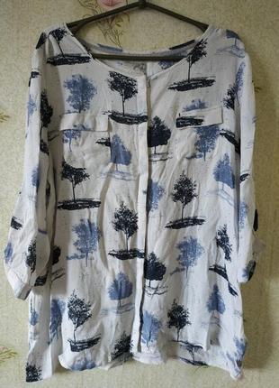 Брендовая блузка рубаха john rocha 💯 вискоза