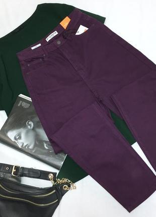 Фиолетовые mom jeans pull&bear