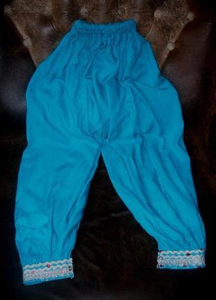 Индийские штаны брюки для танцев йоги детские