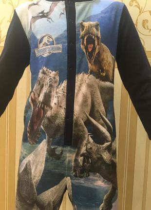 Слип , пижама, комбез для сна с динозаврами george