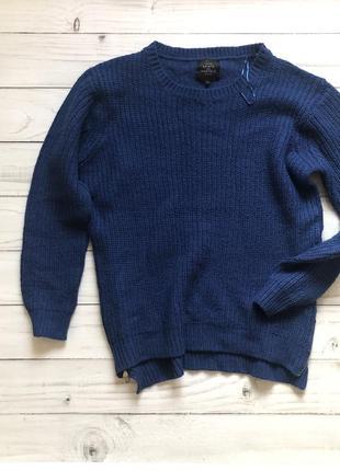 Объемный удлиненный свитер с молниями