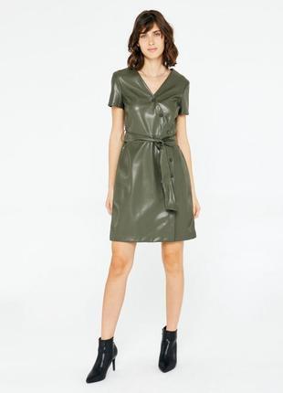 Кожаное платье от asos