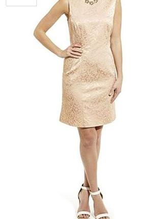 Коктейльное платье с жаккардовым рисунком
