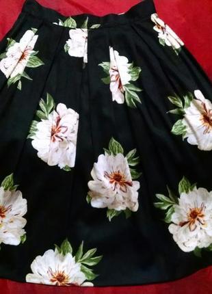 Пышная юбка в цветы