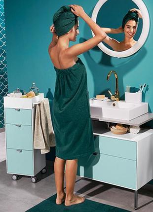 Большое махровое полотенце-платье из хлопка от tchibo. размер 146*80