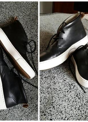 Шикарные фирменные ботинки из натуральной кожи