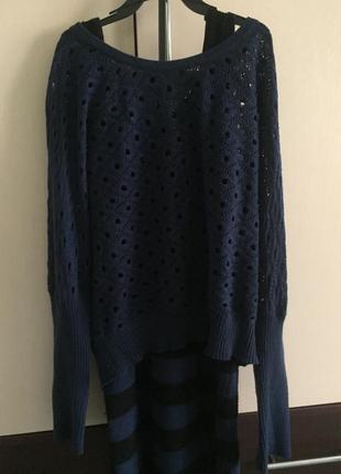 Платье с вязаной кофточкой, комплект