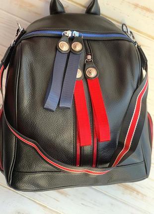 Рюкзак-сумка натуральная кожа