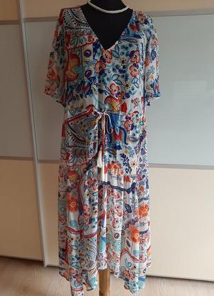 Шифоновое миди платье  per una uk 16 eur 44