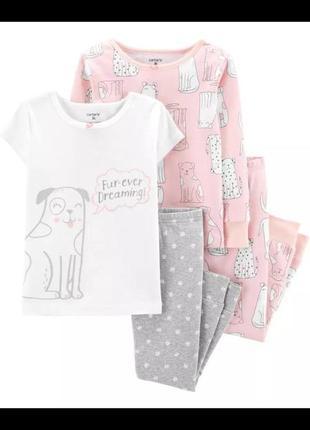 Пижама carters для девочки набор пижам