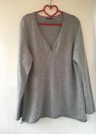 Удлиненная кашемировая туника свитер, натуральный кашемир avenue foch