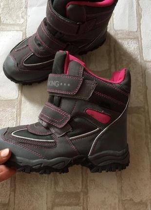 Зимние термо ботинки сапоги на девочку hiking 34