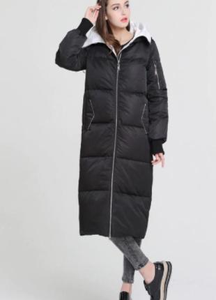Зимний брендовый теплый пуховик кокон, одеяло basic vogue