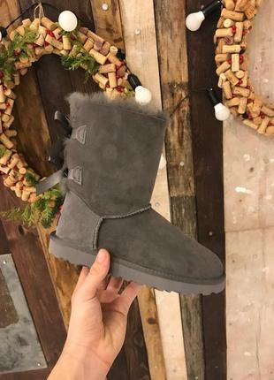 Крутые уги ❄️ ugg bailey bow boot gray ❄️ на овчине