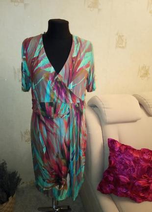 Моделирующее платье на запах, трикотаж