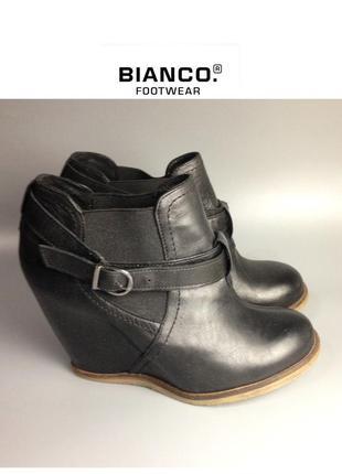 🔥 скидка 🔥bianco footwear ботильоны из натуральной кожи сникерсы ботинки на танкетке