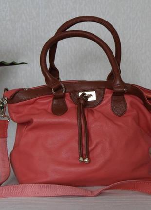 Кожаная сумка в нежном цвете tantan швейцария