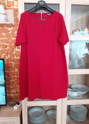Роскошное фактурное платье большого размера