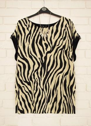 Модная футболка из комбинированной ткани f&f uk22 новая