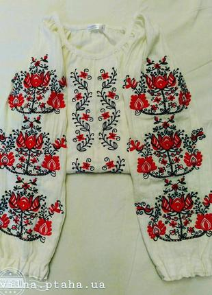 Вышиванка, блуза с вышивкой, блуза из льна