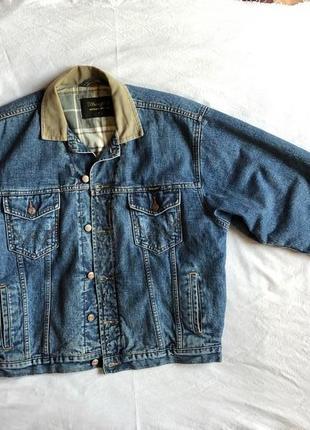 Утеплённая джинсовая куртка wrangler,оригинал