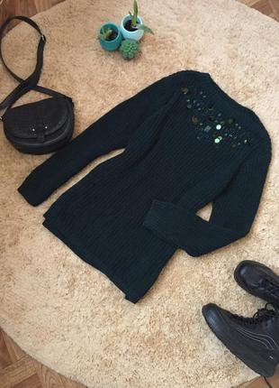 Довгий светр ,туніка /удлинённый свитер туника