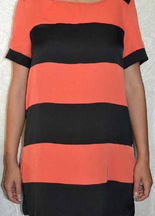 Распродажа вещей!!! очень красивое черно-оранжевое платье, 46-48р