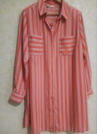 Удлиненная блуза оверсайз bobiflirt